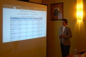 Univ.-Prof. Dr. Xenia Matschke während ihres Vortrages.